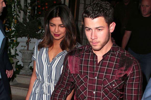 Priyanka Chopra et Nick Jonas le 16 juillet 2018 à Londres