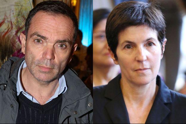 Yann Moix et Christine Angot.
