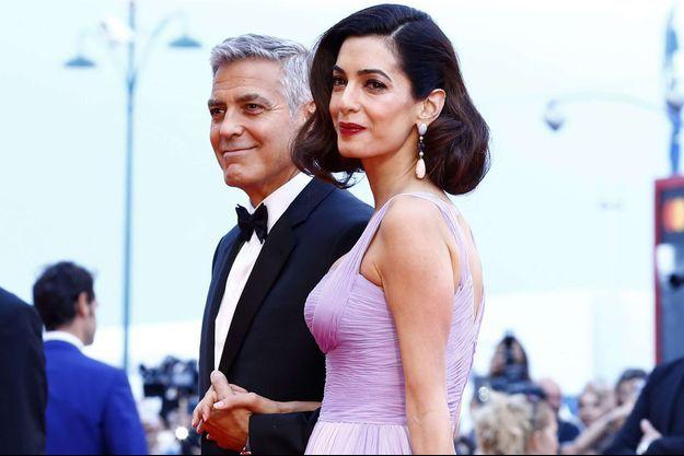 Amal et George Clooney à la Mostra de Venise 2017.
