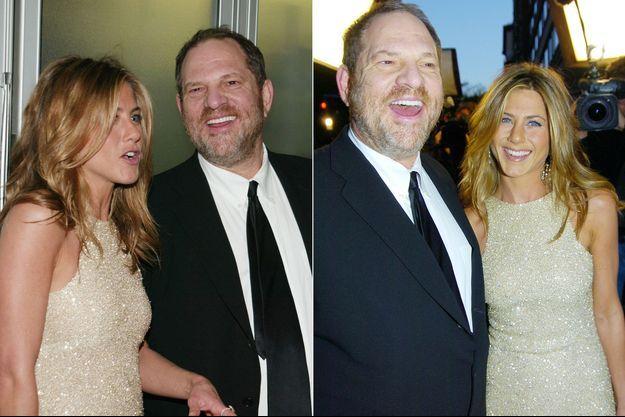 """Jennifer Aniston et Harvey Weinstein en 2005 à la première du film """"Dérapage"""""""