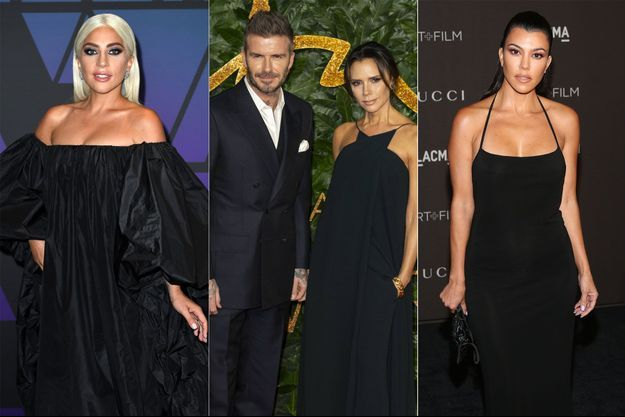 Lady Gaga, David et Victoria Beckham, Kourtney Kardashian