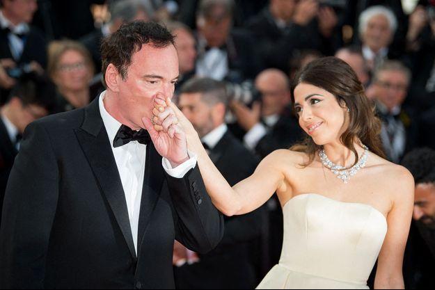 Quentin Tarantino et Daniella Pick à Cannes en 2019