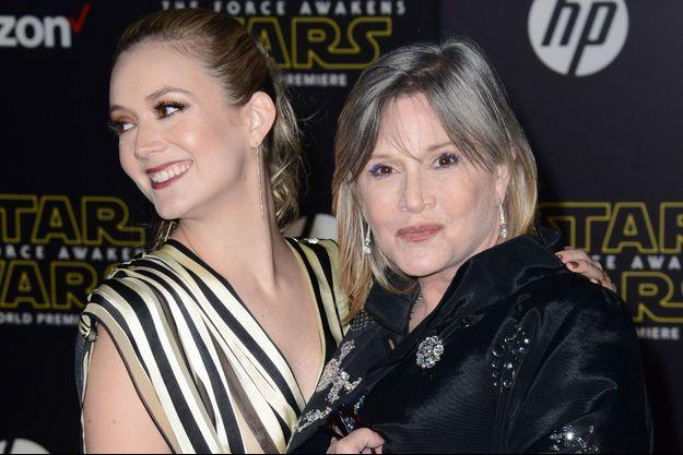 Carrie Fisher et sa fille Billie Lourd en 2015