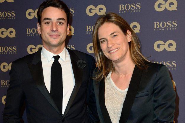 Julian Bugier et son épouse, Claire Fournier, en 2014.