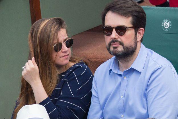 Jean-François Piège et son épouse Elodie à Roland Garros en juin 2018.
