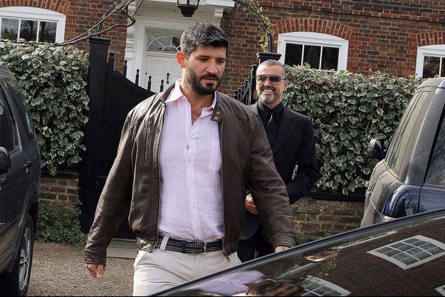 Fadi Fawaz et George Michael en mars 2012 à Londres.