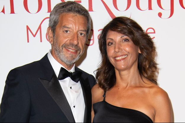 Nathalie et Michel Cymes au gala de la Croix Rouge à Monaco en juillet 2018.