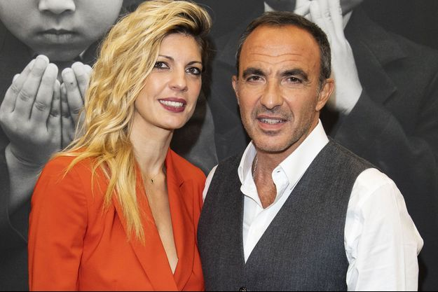 Tina Grigoriou et Nikos Aliagas en octobre 2018, à Paris.