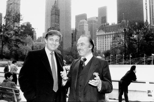 Donald Trump et son père Fred, à New York dans les années 80.
