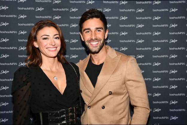 Rachel Legrain-Trapani avec son petit ami Valentin Leonard à Paris en octobre 2019.