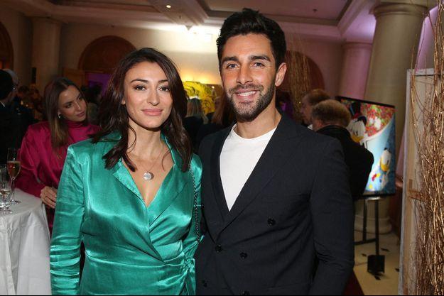 Rachel Legrain-Trapani et son compagnon Valentin Léonard à Paris en décembre 2019.