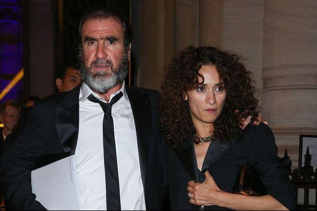 Rachida Brakni et Eric Cantona à Paris, en juillet 2016.