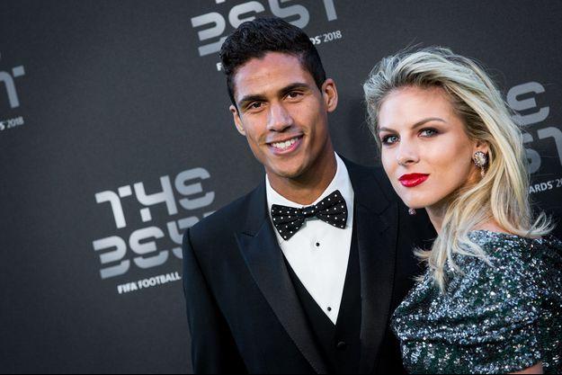 Raphaël Varane et son épouse Camille