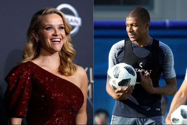 Reese Witherspoon et Kylian Mbappé