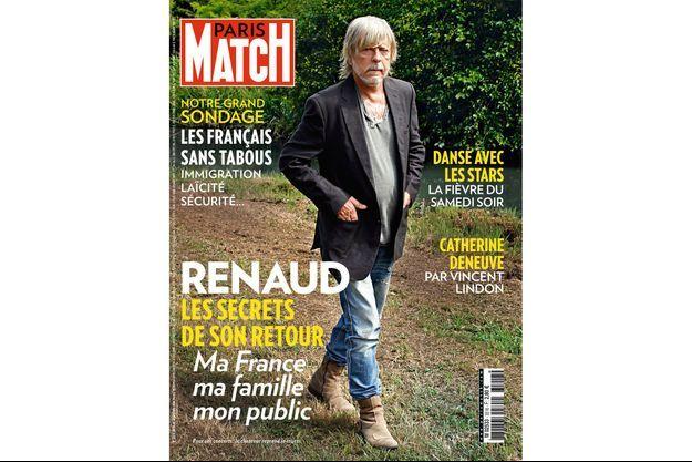 Renaud en une de Paris Match n°3518