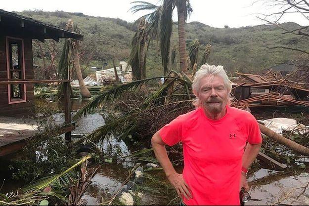 Richard Branson dans les îles vierges britanniques, le 11 septembre 2017.