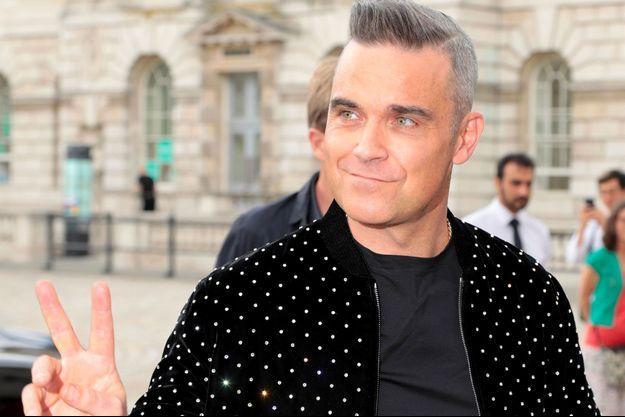 Robbie Williams à Londres, le 17 juillet 2018