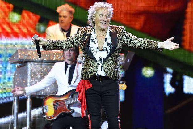 Rod Stewart en concert à Stockholm, le 16 mai dernier.
