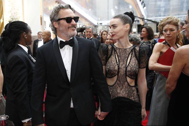 Joaquin Phoenix et Rooney Mara aux Oscars en février 2020