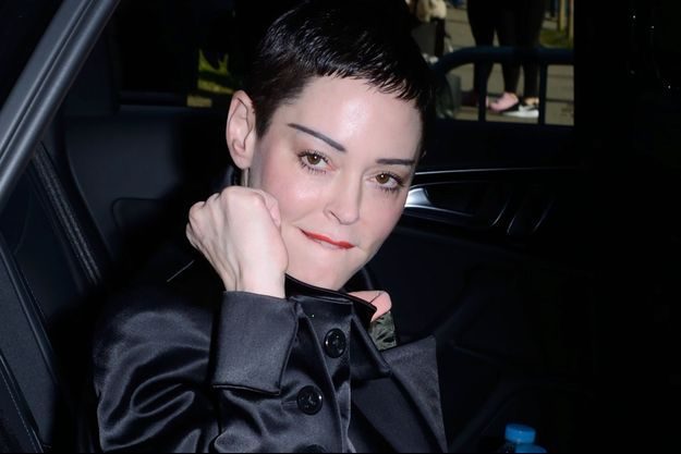 Rose McGowan à Paris.