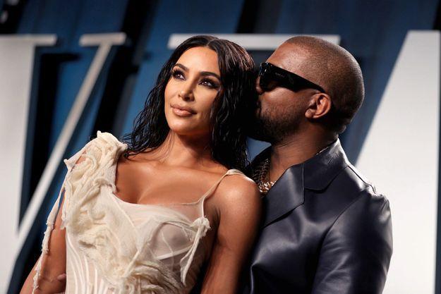 À la soirée «Vanity Fair » des Oscars à Los Angeles, le 9 février 2020: une des dernières apparitions publiques des «Kimye ».