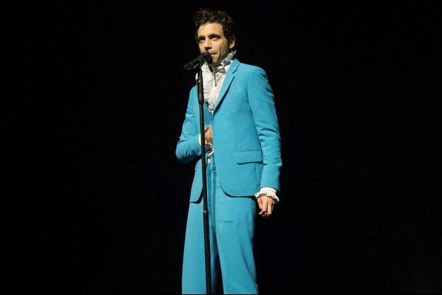 Mika sur scène en février.