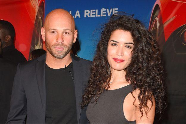 Franck Gastambide et Sabrina Ouazani au Grand Rex à Paris, le 8 avril 2018