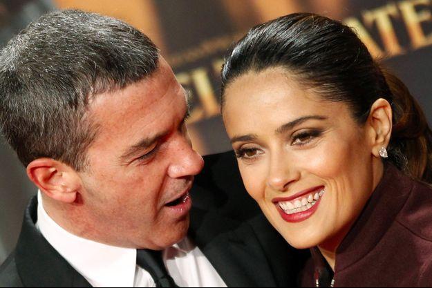Antonio Banderas et Salma Hayek en 2011