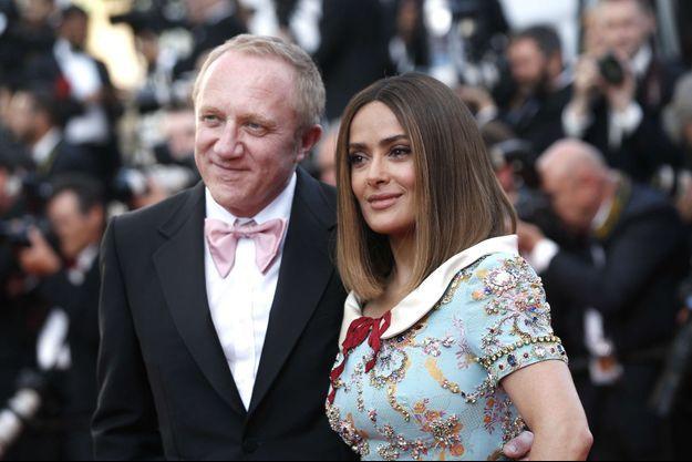Salma Hayek et François-Henri Pinault au festival de Cannes, le 23 mai 2017.