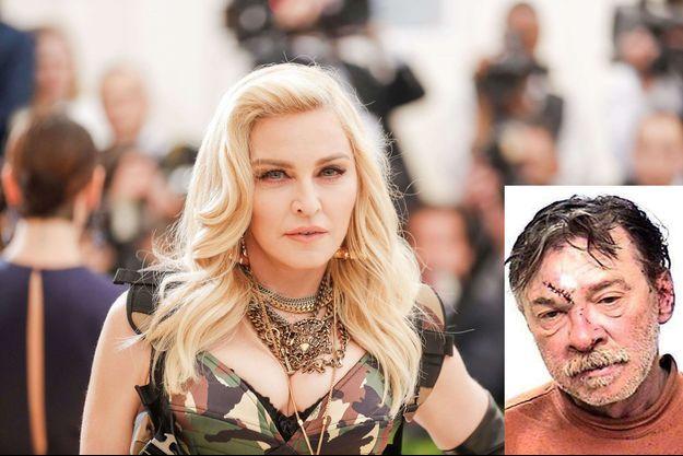 Madonna au Met GALA en 2016. En médaillon, son frère Anthony Ciccone en 2013.