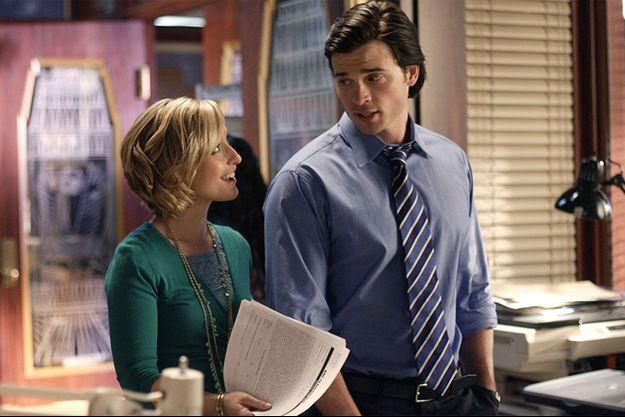 "Allison Mack et Tom Welling dans ""Smallville""."