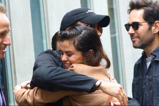 Selena Gomez et Justin Theroux à New York.