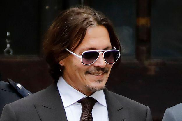 Johnny Depp devant la Haute Cour de Londres, le 10 juillet 2020.