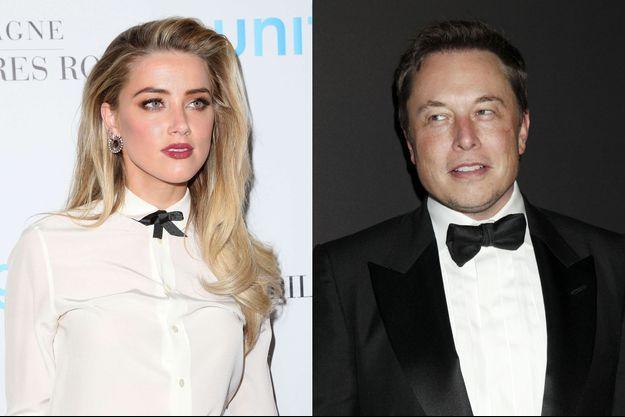 Amber Heard et Elon Musk.