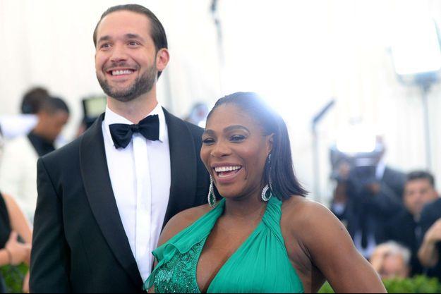 Serena Williams et Alexis Ohanian au Met Gala, le 1er mai 2017.