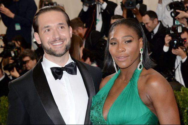 Serena Williams et Alexis Ohanian le 1er mai 2017 à New York.