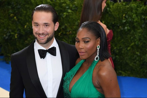 Alexis Ohanian et Serena Williams le 1er mai 2017 à New York.