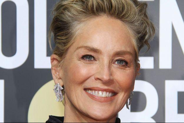 Sharon Stone aux Golden Globe le 7 janvier 2018