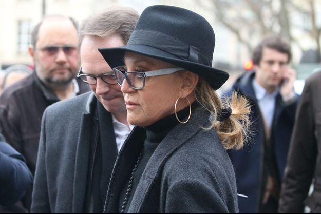Sheila, ici en 2016 à Paris aux obsèques de Michel Delpech