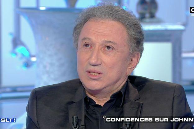 """Michel Drucker sur le plateau de """"Salut Les Terriens"""" samedi."""