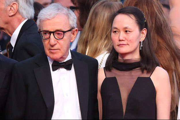 Woody Allen et sa femme Soon-Yi Previn lors du 68ème Festival de Cannes, le 15 mai 2015