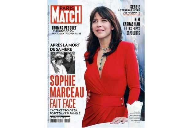 Sophie Marceau à la une de Paris Match n°3531.