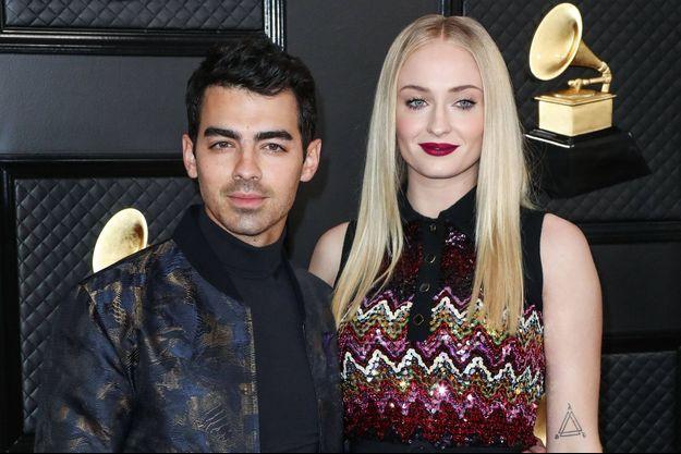 Joe Jonas et Sophie Turner aux Grammy Awards le 26 janvier 2020 à Los Angeles