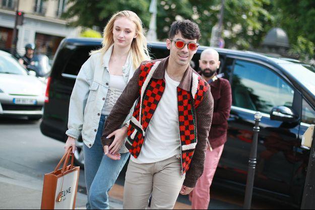 Sophie Turner et Joe Jonas, à Paris le 22 juin.