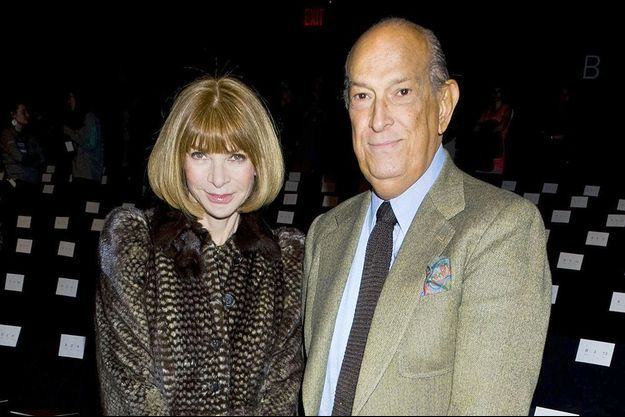 Anna Wintour et Oscar de la Renta à la Fashion Week de New York en 2012