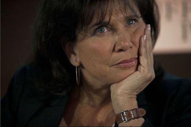 Anne Sinclair à Paris, le 23 avril 2014.