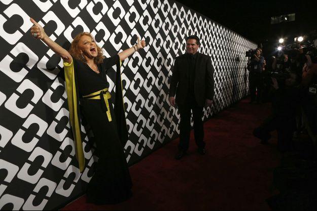 Diane Von Furstenberg pose pour les photographes lors de sa grande soirée, vendredi.