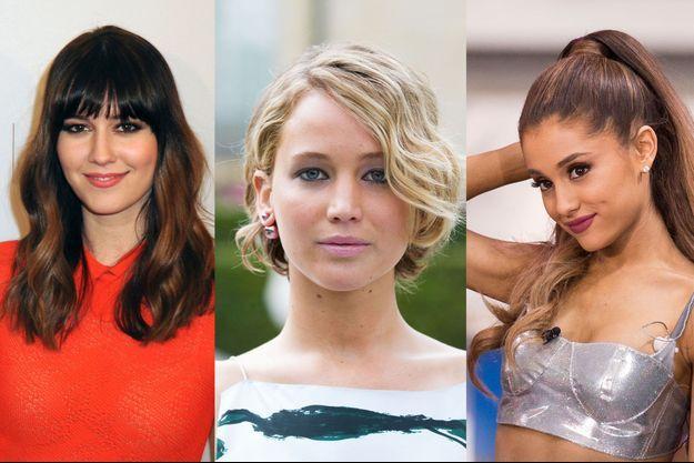 Mary Elizabeth Winstead, Jennifer Lawrence et Ariana Grande en 2014.