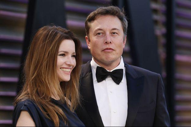 Elon Musk et Talulah Riley en mars 2014