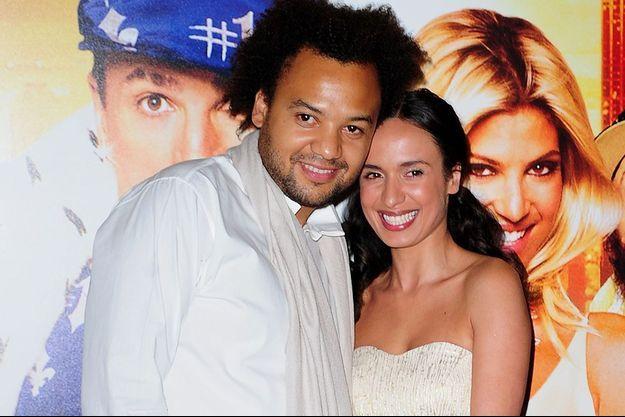 Fabrice Eboue et Amelle Chahbi à l'avant-première de Fatal, en juin 2010.